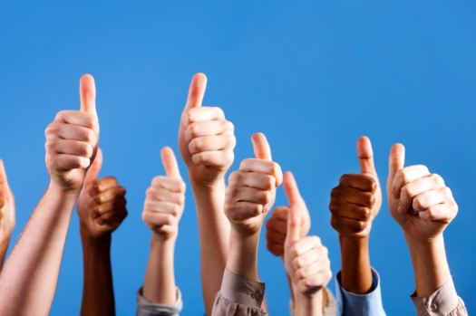 thumbs-up blue